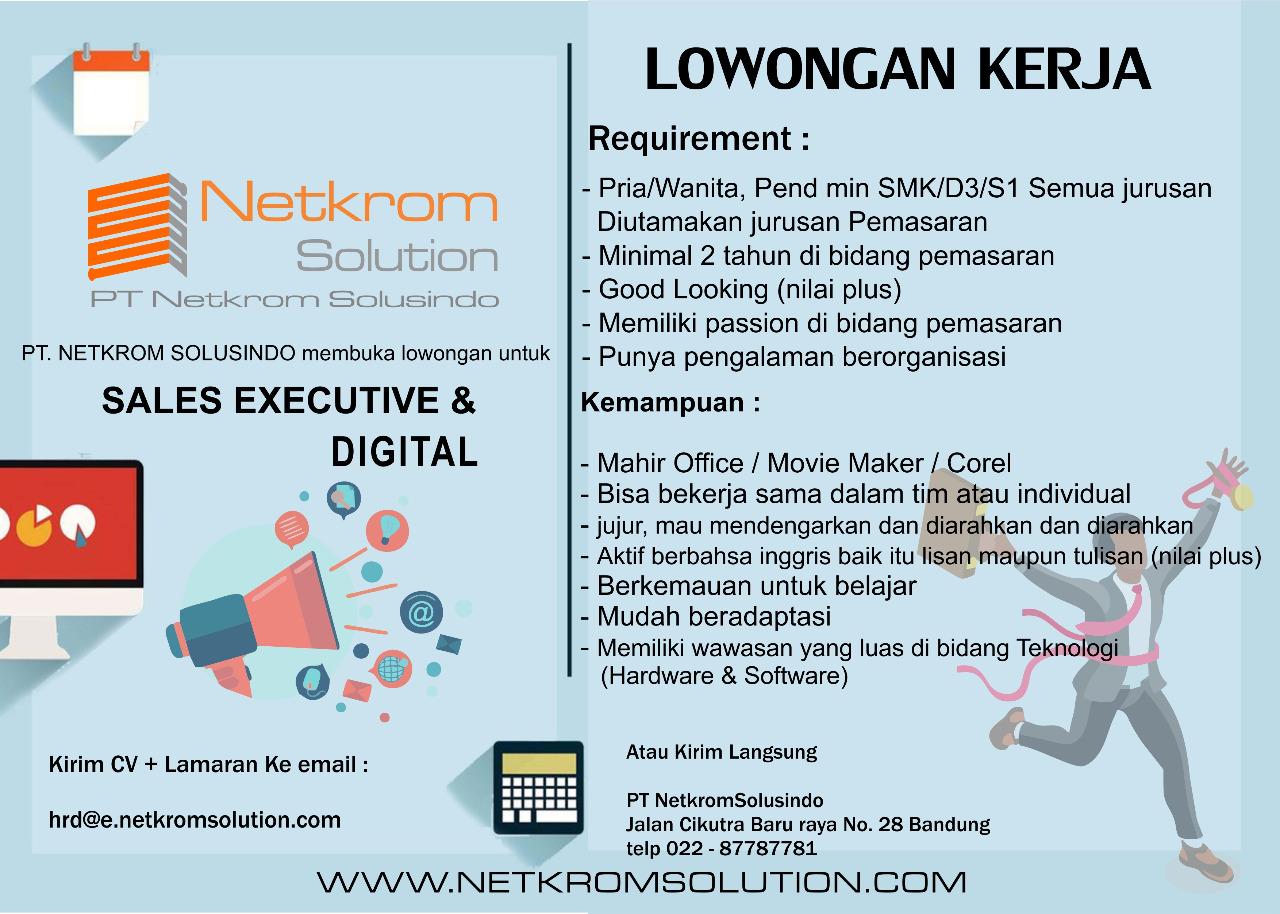 Lowongan Kerja Di Pt Netkrom Solusindo Bandung Official Website